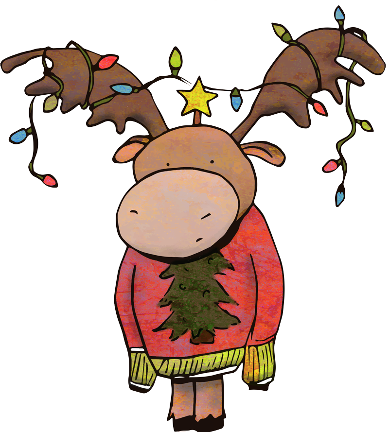 Ugly Christmas Sweater Moose