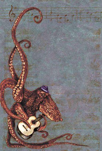 Octopus Plays Guitar